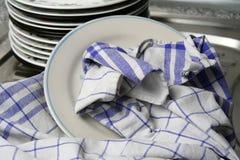 Dish washing Royalty Free Stock Images