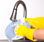 Dish washing Royalty Free Stock Photography