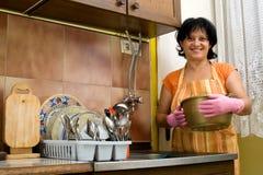 Dish washing Royalty Free Stock Photography