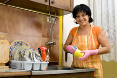 Dish washing Stock Photo