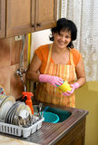 Dish washing Royalty Free Stock Photos