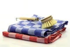 Dish washing brush Royalty Free Stock Photo