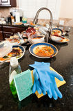 Dish washing cleaning supplies Stock Images