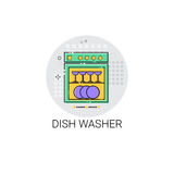 Dish Washing Machine Household Equipment Icon Royalty Free Stock Photography