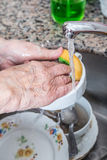 Dish washing Stock Image