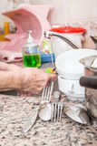 Dish washing Stock Photography