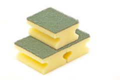 Dish washing sponge Royalty Free Stock Photos