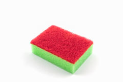 Dish washing sponge, household cleaning sponge. Royalty Free Stock Photography