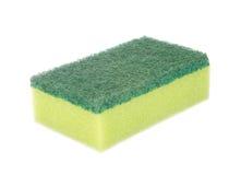 Dish washing sponge isolated on white Stock Photo