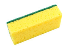 Dish washing sponge, isolated on white background Stock Images