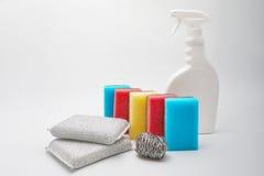 Dish washing sponge. On a white background Royalty Free Stock Photography