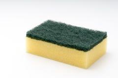 Dish washing sponge. On a white isolated background Royalty Free Stock Image