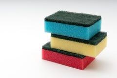 Dish washing sponge. On a white isolated background Royalty Free Stock Photography