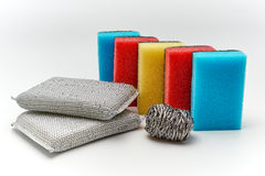 Dish washing sponge Stock Images