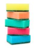 Dish washing sponges Royalty Free Stock Images