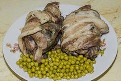 Dish of wild partridges Royalty Free Stock Image