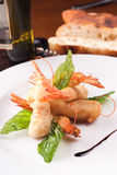 Dish With Battered Shrimps Stock Images