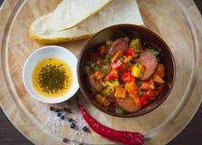 Free Dish With Chorizo Stock Photo - 35270160
