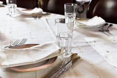 Dished up table Royalty Free Stock Image