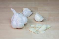 dishes специя подготовки чеснока головная Стоковые Изображения