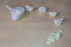 dishes специя подготовки чеснока головная Стоковое Изображение