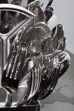 Dishes. In a dishwasher baskett Stock Photo