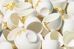 Dishes background Stock Photo