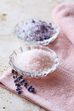 Dishes with Bath Salts Royalty Free Stock Images