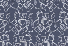 Dishes blue pattern royalty free stock photography