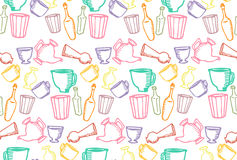 Dishes color pattern stock image