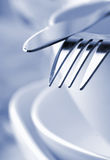 Dishes and cutlery Royalty Free Stock Photography