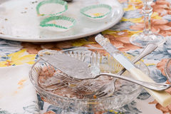 Dishes and cutlery dirty Stock Photo