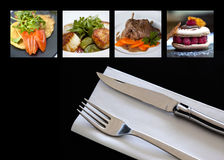 Dishes and cutlery Royalty Free Stock Image