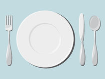 Dishes and cutlery Royalty Free Stock Photo