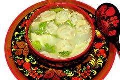 dishes du folk俄国西伯利亚传统 库存照片