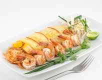 Dishes of international cuisine in a restaurant Royalty Free Stock Photography