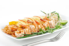 Dishes of international cuisine in a restaurant Royalty Free Stock Photos