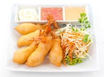 Dishes of international cuisine in a restaurant Stock Photos