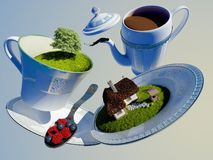 Dishes in nature. Stock Image