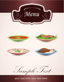 Dishes restaurant menu Stock Image