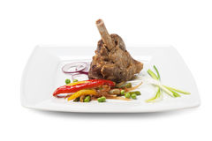 Dishes of roast meat Royalty Free Stock Photo