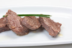 Dishes of roast meat Stock Photo
