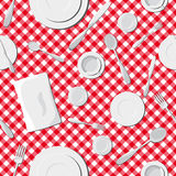 Dishes seamless pattern Royalty Free Stock Photos