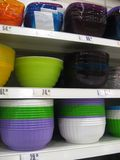 Dishes shelves Stock Photo