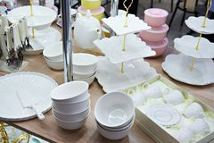 Dishes shop Stock Images