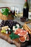 Cheesy - meat dish Antipasto Stock Photos