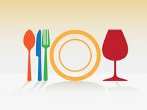 Dishes symbols Stock Photography