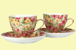 Dishes for tea. Set of the dishes for tea of the cup and saucer Stock Photography