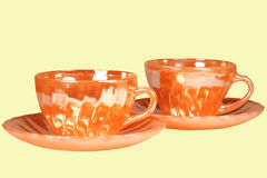 Dishes for tea. Set of the dishes for tea of the cup and saucer Stock Image