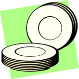 dishes vector illustration Stock Photos
